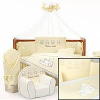 Комплект постельного белья для детей с 7-ми предметов Tuttolina Four Duck