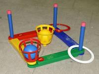 Кольцеброс с кольцами и мячами детская спортивная игра