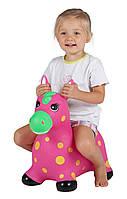 Детский прыгун Пятнистый пони розовый John (JN59034P)