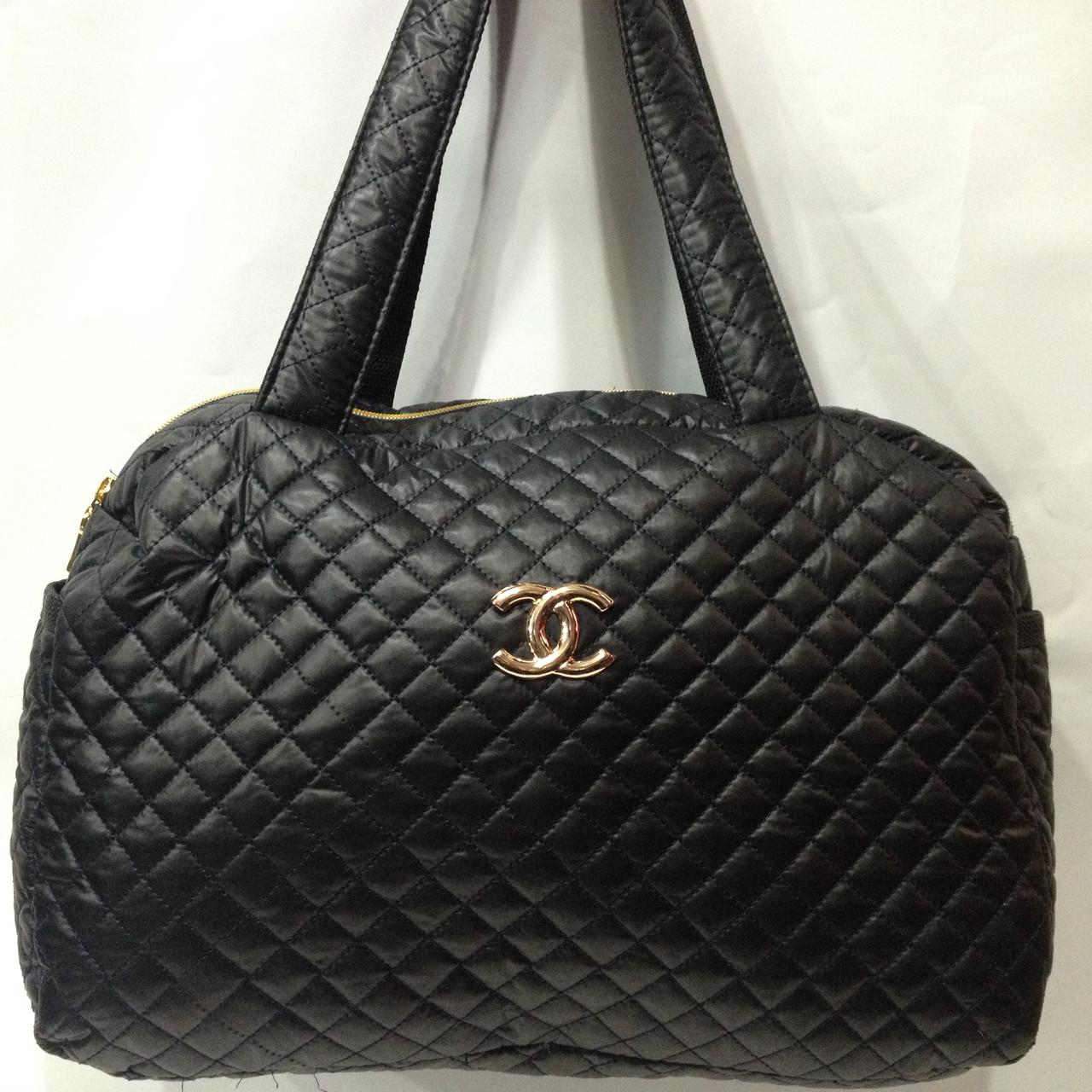 463d5fbdaf43 Модная стеганая сумка Шанель из плащевки черная оптом : продажа ...