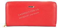 Стильный женский удобный кожаный кошелек барсетка SALFEITE art. 2165 красного цвета овальное лого