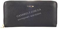 Стильный женский удобный кожаный кошелек барсетка SALFEITE art. 2165 черного цвета овальное лого