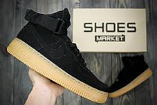 Мужские кроссовки Nike Air Force 1 High Suede Black Gum, Найк Аир Форс, фото 2