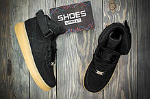 Мужские кроссовки Nike Air Force 1 High Suede Black Gum, Найк Аир Форс, фото 3