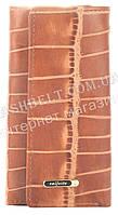 Стильная прочная компактная надежная кожаная ключница SALFEITE art. 2232BT-E82 светло коричневый, фото 1