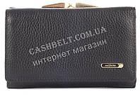 Стильный женский компактный кожаный кошелек SALFEITE art. 2115 черного цвета овальное лого