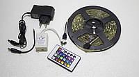 Светодиодная лента RGB+W 5050, 5м, 19 цветов, 4 режима,  полный комплект
