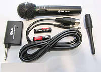 Микрофон динамический  2 в 1 LG DM-399 радио и шнуровое подключение