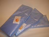 Пеньюар одноразовый полиэтиленовый 100шт. в упаковке белый синий желтый