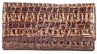 Вместительный оригинальный кожаный лаковый женский кошелек бумажник коричневого цвета H.Verde art.2597-F13, фото 1