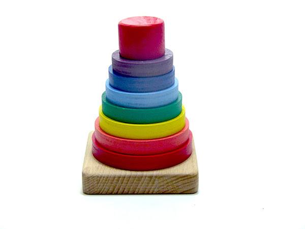 Пирамидка «Радуга» 7 цветов, Розумний Лис