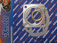 Комплект прокладок под цилиндр, головку и глушитель на скутер 2т Honda Dio AF-18/25/27/28 50cc GXmotor