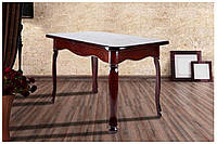 Стол деревянный от производителя Гаити 195(+40+40)х100х75 (темный орех)
