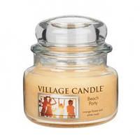 """Ароматическая свеча в стекле Village Candle """"Вечеринка на пляже"""". 315 гр/ 55 часов"""