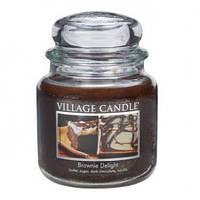 """Ароматическая свеча в стекле Village Candle """"Десерт Брауни"""". 455 гр/ 105 часов"""