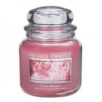 """Ароматическая свеча в стекле Village Candle """"Вишня в цвету"""". 455 гр/ 105 часов"""