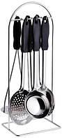 Кухонный набор 7 шт (половник+картофел+ложка+вилка+лопатка+шумовка) Empire 0012