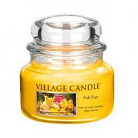 """Ароматическая свеча в стекле Village Candle """"Осенний праздник"""". 315 гр/ 55 часов"""