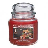 """Ароматическая свеча """"Рождество"""" в стекле Village Candle. 455 гр/ 105 часов"""