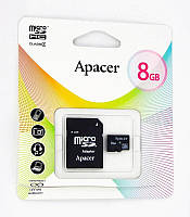 MicroSDHC 8Gb Apacer (4class) with adapter, фото 1