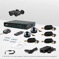 Система видеонаблюдения «установи сам» Страж Контрол 4М (УЛ-480К-2.КУ-420Ш-2)