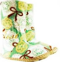 Яркие женские тапочки - сапожки на мягкой подошве, для ламината и паркета