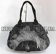 Черная нестандартная женская сумка СК для спорта
