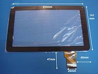 "Сенсорное стекло YH-F900H YJ164FPC-V0, 9"" 50 pin черное"
