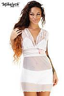 Комбинация женская короткая, ткань ,материал сетка+ гипюр, цвет белый, супер качество вч №188