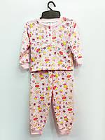 Трикотажная пижама Ферма (розовая), байка