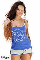 Пижама женская майка и шортики ,ткань вискоза и кружево, 4 расцветки,супер качество вч № 291