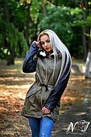 Стильная батальная куртка-парка. Арт 8595/72