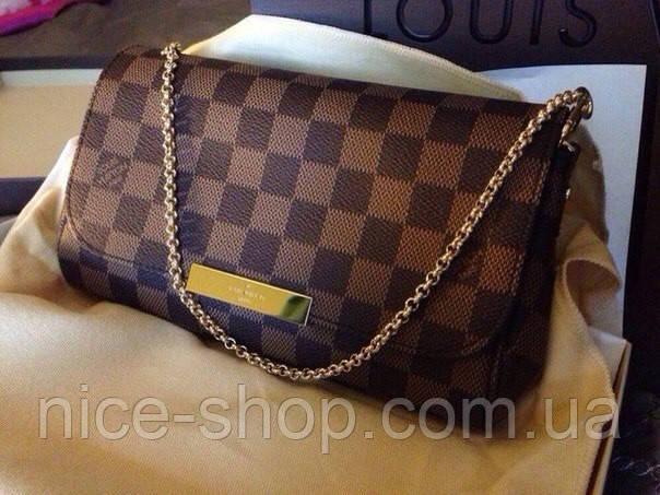 Клатч Louis Vuitton Favorite коричневая шахматка, кожа, фото 2