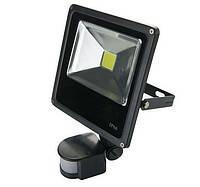 Прожектор светодиодный LED с датчиком движения 50W 6400K Slim