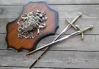 Историческое панно рыцарей. Сувенирный трофей подарок