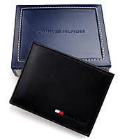 Кожаный кошелек Tommy Hilfiger Оригинал черный в фирменной упаковке кожаное портмоне Томми Хилфигер