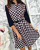 Платье женское на пуговицах клетка, фото 3