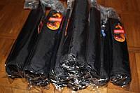 Мужской зонт черный King Rain полуавтомат 3 сложения, карбон антиветер, новые, Качество!
