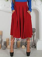 Юбка Миди красная, фото 1