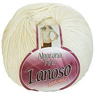 """Пряжа Lanoso Alpacana Fine """"901"""" белый"""