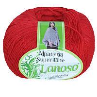 Lanoso Alpacana Super Fine красный № 956