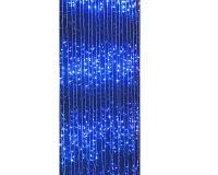 Гирлянда штора 240 led ламп Синий дождь