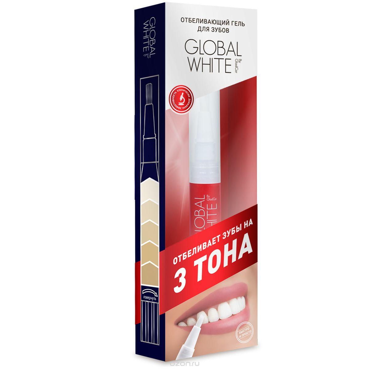 Глобал Вайт гель-карандаш отбеливающий (2-3 тона) 5мл