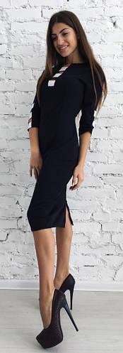Платье женское вырез полосы