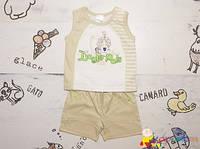 Стильный летний костюм р.74, 80 для мальчика ТМ Garden Baby
