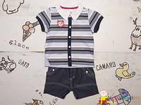 Летний стильный костюм мальчику р.68 ТМ Garden Baby