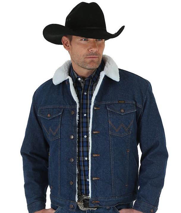 12cce474910c Зимняя Джинсовая Куртка Wrangler® Western Sherpa - Denim — в ...