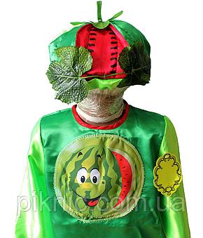 Детский карнавальный костюм Арбуз для детей 4,5,6,7 лет. Фрукты Арбузик для мальчиков и девочек 340, фото 2