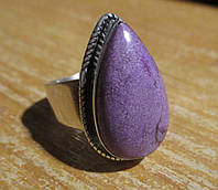"""Необычное кольцо с фосфоритом """"Ультрафиолет"""", размер 18,9 от Студии  www.LadyStyle.Biz"""