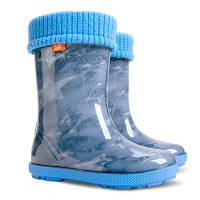 Резиновые сапоги Демар голубые